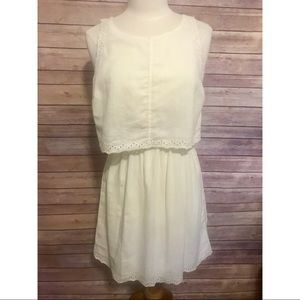 NWT Ann taylor eyelet layered white dress tank
